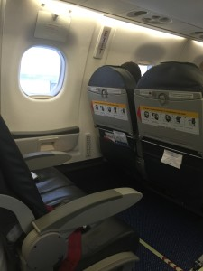 Empty emergency seat because KLM wants money for that!